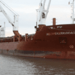 Panoramic first shipment from Savannah restart sets sail