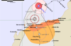 Tropical Cyclone Damien creeps up on the Pilbara