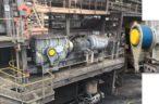 Stieber's custom backstops for coal mine conveyors