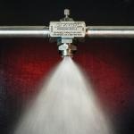 Large external mix spray nozzles