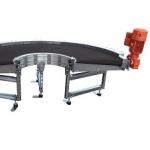 Curved belt conveyors