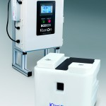 Cleaning and sanitising system for food makers
