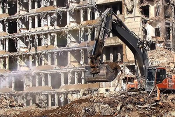 PhD student halting construction waste